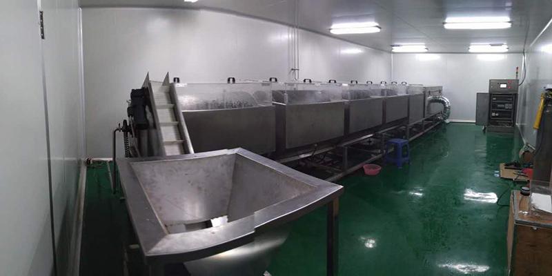 隧道式全自动铝盖清洗烘干机
